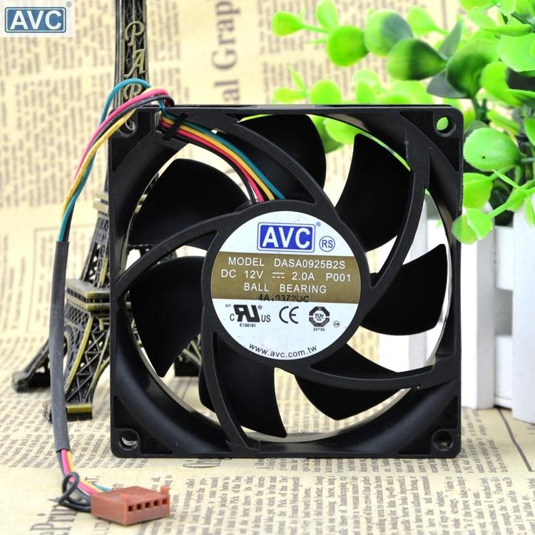 AVC DASA0925B2S 9 CM 90*90*25 MM 9025 12 V 2.0A cavo a 4 fili della ventola PWMAVC DASA0925B2S 9 CM 90*90*25 MM 9025 12 V 2.0A cavo a 4 fili della ventola PWM
