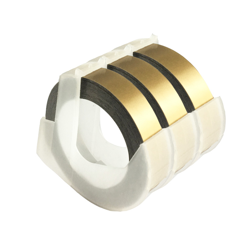CIDY 3 rolls 9mm *3m Dymo 3D Plastic Gold Color Embossing Tapes for Embossing Label Makers DYMO 1011 1610 12965 MOTEX E101 multicolor motex e101 printer mini diy hand compatible for dymo 3d embossing manual tape manual typewriter lettering machine