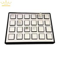 Ring Pallet Black And White 24 Quality Ring Plate Ring Props Jewelry Pallet Ring Stand
