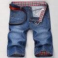 Pantalones Cortos de mezclilla de Los Hombres Mediados de cintura Feminino Corto Jean Bermuda masculina Homme Verano Hombre Pantalones Cortos