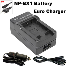 NP-BX1 Battery Charger+EU Cable for Sony HDR-AS100v AS30v HX50 DSC-RX100 HX400 WX350 DSC RX1 RX100 RX100iii M3 M2 RX1R Camera