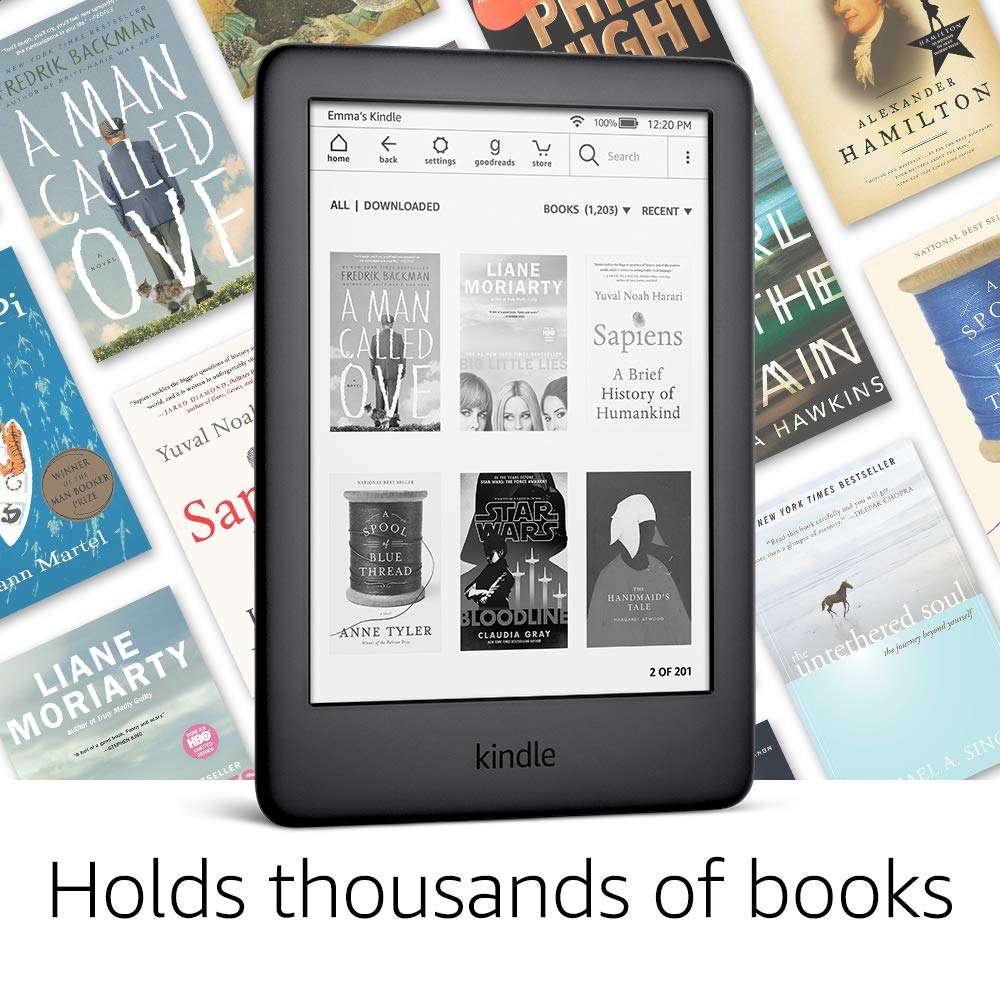 All-new Kindle Black 2021 version, Now with a Built-in Front Light, Wi-Fi 4GB eBook e-ink screen 6-inch e-Book Readers 5