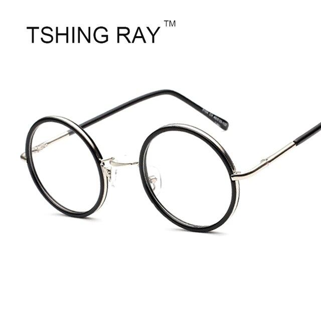 93997f620c2 Unisex Round Vintage Brand Designer Eye Glasses Frame Fashion Men Women  Circle Nerd Reading Optical Eyeglasses Female Eyewear