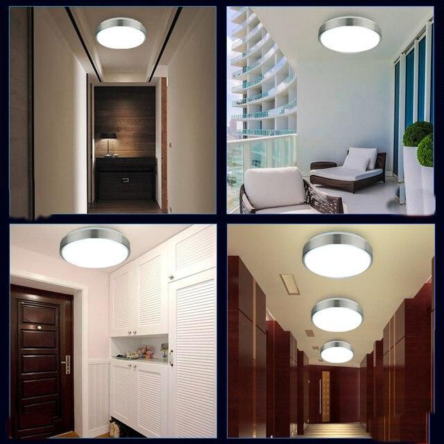 Luzes de Teto de Led 220 V lâmpada de Indução Radar/Sensor Humano/controle de Som Levou As Luzes Do Tecto Lampars de techo dispositivos Elétricos de banheiro