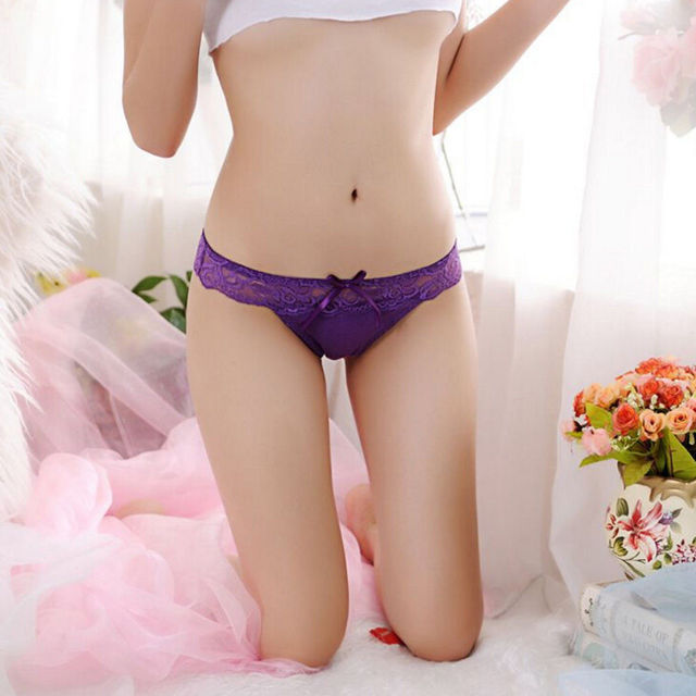 Fashion Sexy Women Thongs G-string Lace Cutton Floral Sheer Underwear Soft Lingerie Briefs Panties