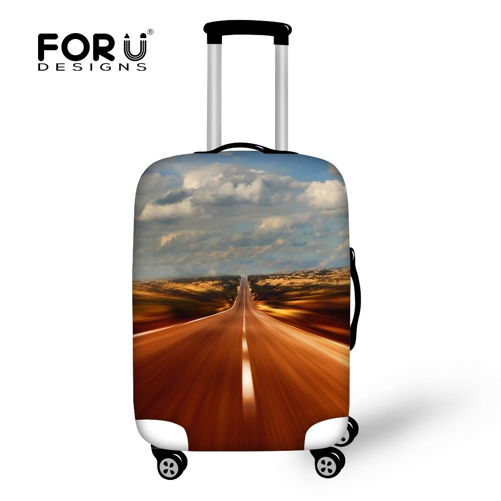 FORUDESIGNS Travel Luggage Cover for 18-30inch Case Waterproof Zipper Suitcase Cover Bag Accessories Luggage Protective Cover