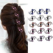 M MISM 6PCS New Rhinestone Flower Hair Claw Snowflake Hairpins Hair Accessories Set Hair Clips Hairgrip For Women Girls Bride