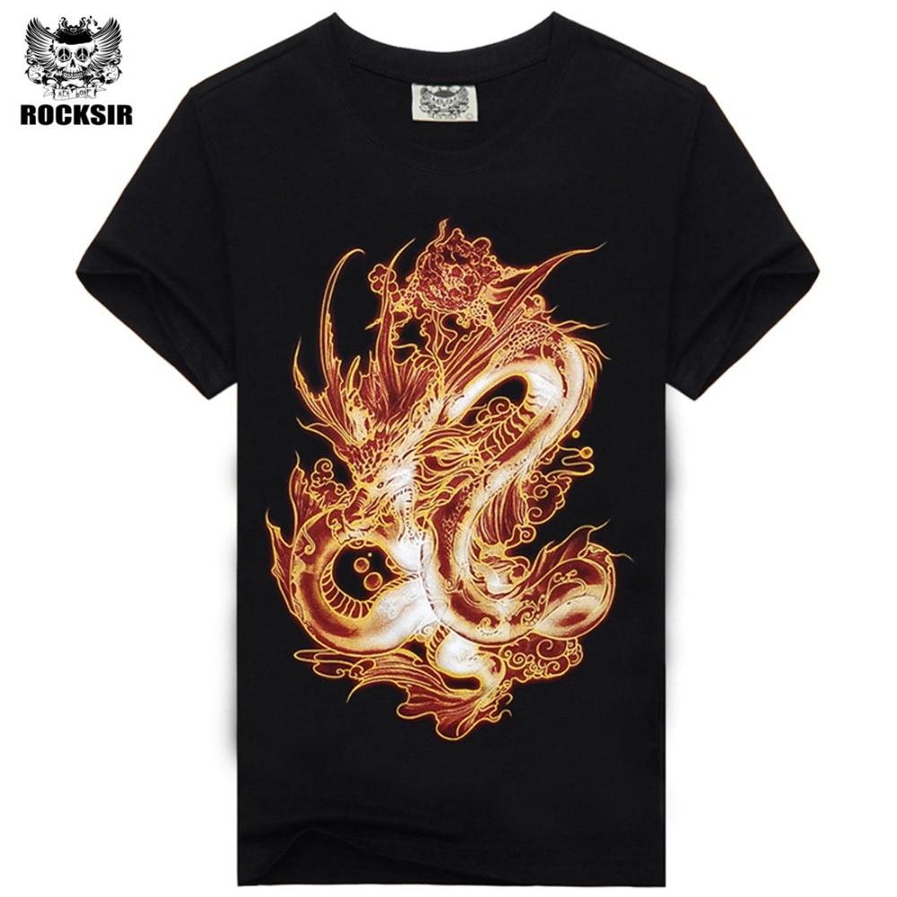 Rocksir 2017 katoenen t-shirt heren casual hiphop korte mouwen shirts - Herenkleding