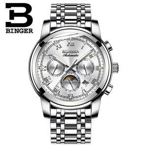 Image 2 - ספיר שעון עמיד למים Relogio Masculino שוויץ אוטומטי מכאני שעון גברים Binger יוקרה מותג Mens שעונים B1178 4