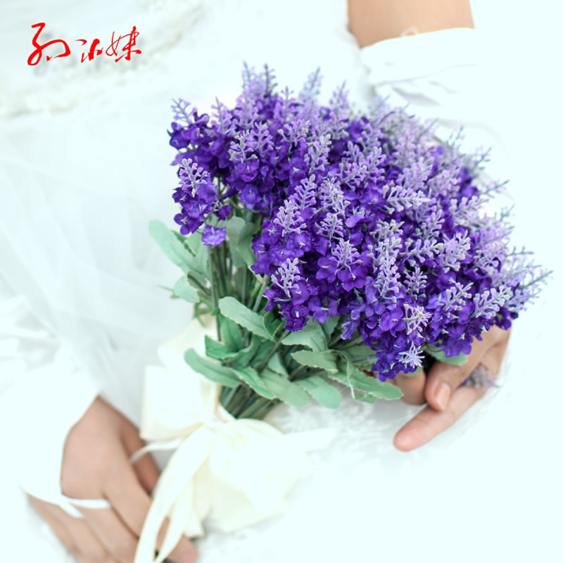 Home Wedding Decor Artificial lavender flower bouquets Lavender ...