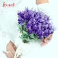 Home Wedding Decor Artificial lavender flower bouquets Lavender bouquet Wedding Decorative FW175