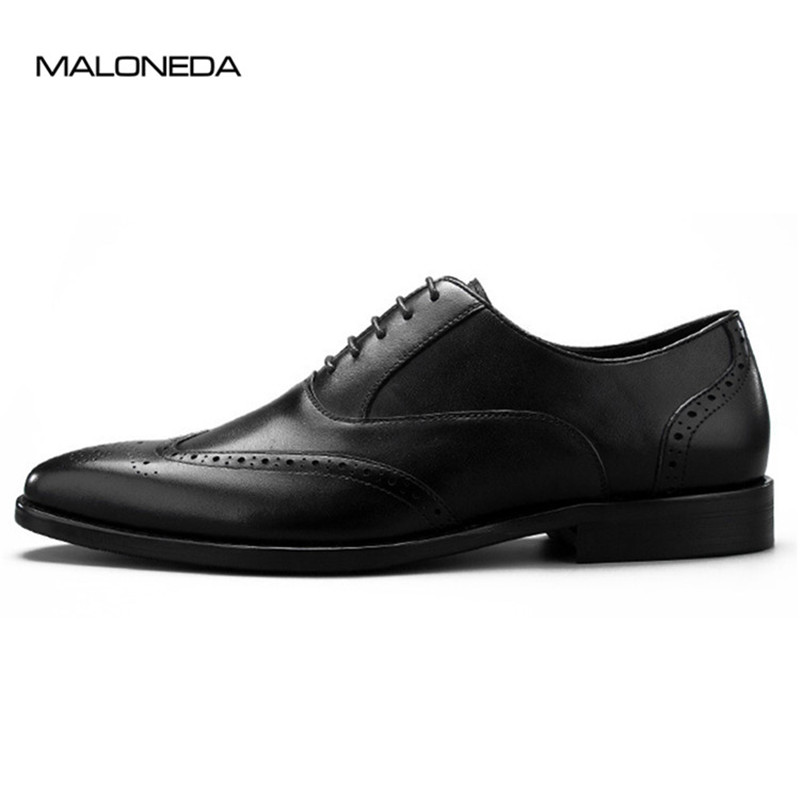 MALONEDA Italy Classic Handmade Brogues Style Calf Leather Shoes Men Lace up Oxfords Dress Shoes MALONEDA Italy Classic Handmade Brogues Style Calf Leather Shoes Men Lace up Oxfords Dress Shoes