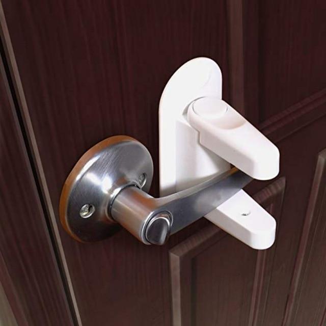 Useful Door Lever Lock Baby And Child Proof Safety Door Handle Lever