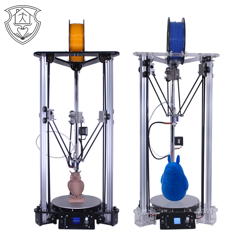 EZT3D Cheap 3D Printer Kit Manufacturer ARM color High Speed DIY Kossel Pulley Delta printers Intelligent Leveling imprimante original anycubic 3d pinter kit kossel pulley heat power big size 3d printing metal printer fast shipping from moscow