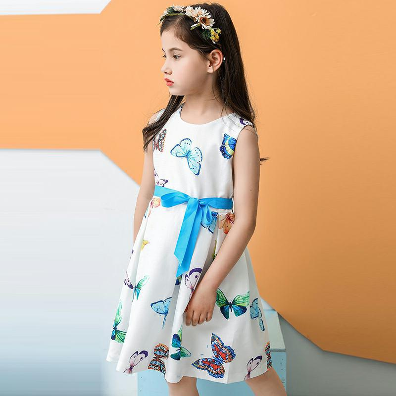 Kids Baby Flower Girls Party Floral Dress Wedding Bridesmaid Dresses Princess Bow Party Pageant Holiday childrens dress