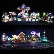 Led Light For Lego 10235 10249 10254 10245 Christmas Winter Village Market for 36010 35019 Creator City Train Building Blocks