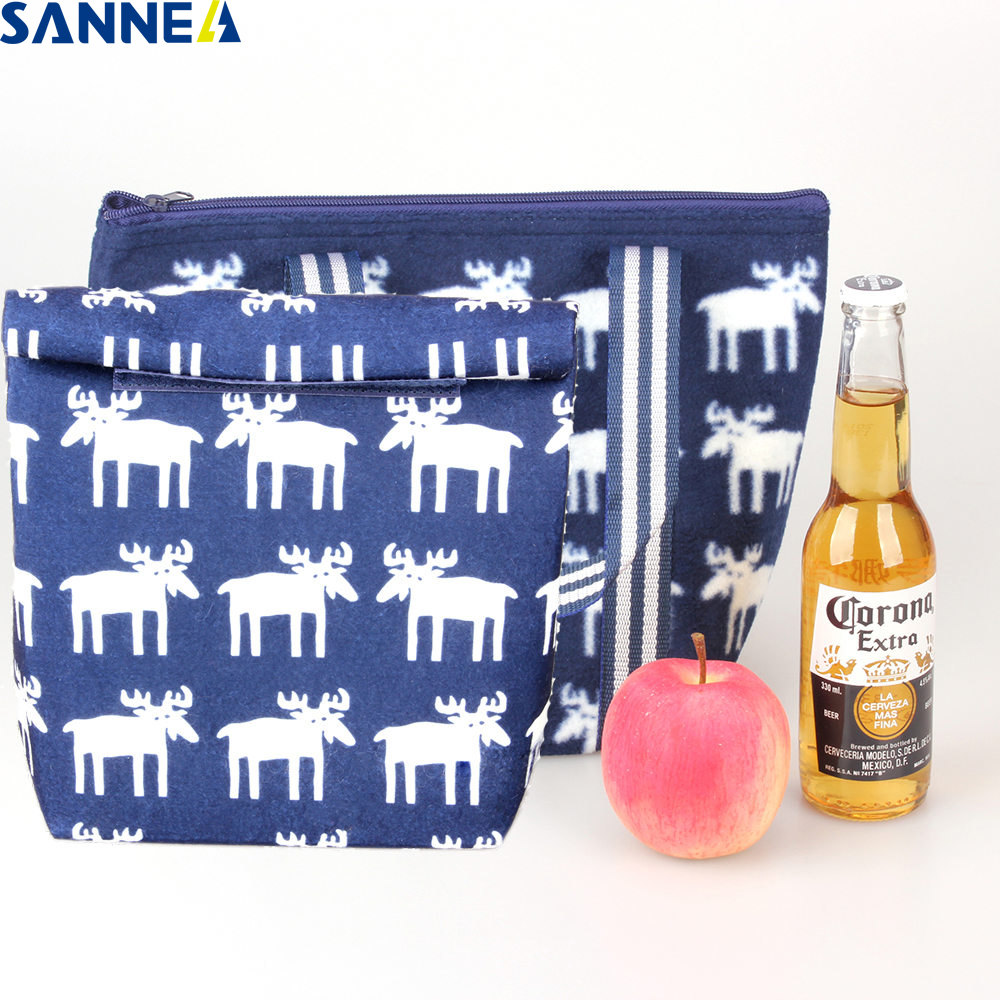 SANNE 2 Styles of Free Matching Lunch Bag New Material Thermal&Lunch Box for Kids Food bag Picnic Bag Handbag Insulated CX158