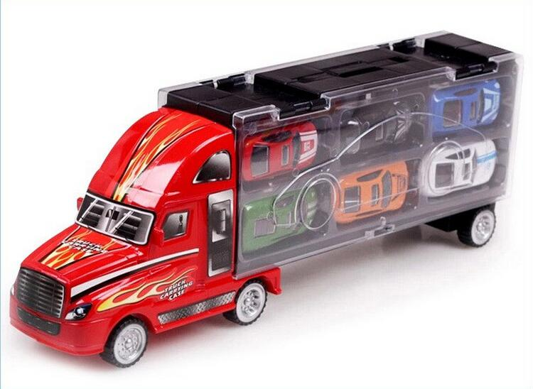 Transport Car Carrier Truck Boys Toy (includes Alloy Metal 12 cars) For Kids Children  (6)