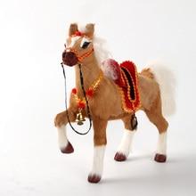 new simulation horse toy polyethylene furs horse with saddle gift about 24x7x21cm