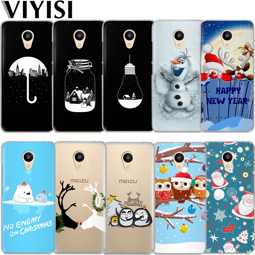 VIYISI Santa Claus Elk For Meizu M6 5 Note Phone Case Cover M5S 5C M3s 3 Pro6 U10 U20 Soft Silicone TPU Back Coque Shell