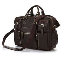 Hot Selling Rare Crazy Horse Leather Men S Briefcase Laptop Bag Travel Bag Big Size 16
