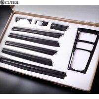 958 Carbon Fiber plain weave interior Door handle cover Dashboard cover car body kit for Porsche Cayenne 958 11 17