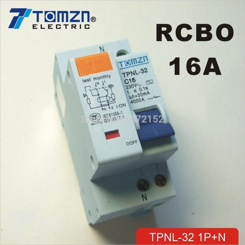 Dpnl 1 P Heimwerker Leistungsschalter N 16a 230 V ~ 50 Hz/60 Hz Fehlerstromschutzschalter Mit über Strom Und Leck Rcbo