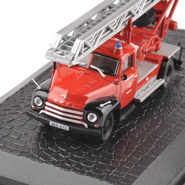 Новый Стиль 1/72 Масштаб Красный Литья Под Давлением Модели Автомобиля Игрушки Opel Blitz Пожарная машина Модель Детей Игрушки Подарки Коллекции