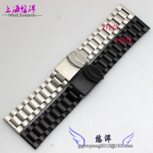 Alternative solid stainless steel 3050 3051 6402 Stainless Steel Watchband Black 23mm