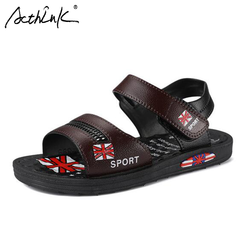 ActhInK New Baby Boys Letter Sandals Boys Summer Breathable Cut-outs Beach Sandals Kids Outdoor Hiking Footwear Sandals for Boys