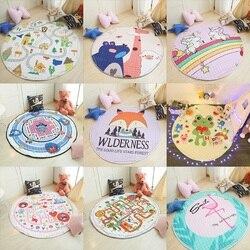 Estilo nórdico lindo patrón de animales de dibujos animados bebé juego alfombrillas para gatear alfombra manta niños habitación decoración del hogar Accesorios de la foto