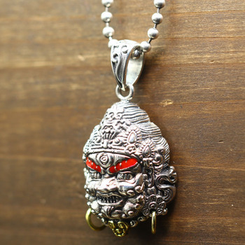 yellow mammon domineering man sweater chain pendant silver 925 fortune restoring ancient ways of transhipment pendant