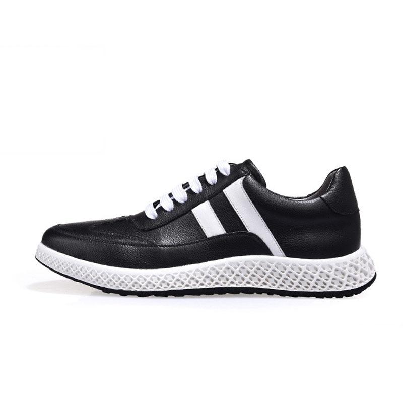 Nous 6 black Épais White forme Hommes Véritable Blanc Homme 2019 Chaussures Taille Pour Décontracté 9 Cuir 5 Automne Plate En Grande Printemps Respirant Iymf6Ygvb7