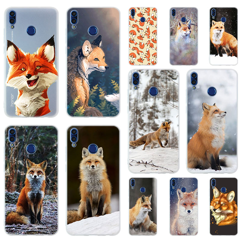Mr cute Fox Soft TPU <font><b>Case</b></font> Cover For Huawei <font><b>Honor</b></font> 9 10 Lite 6X 7X <font><b>8X</b></font> <font><b>Max</b></font> 7A 5.7inch 8A 8C V20 PLAY 9i image
