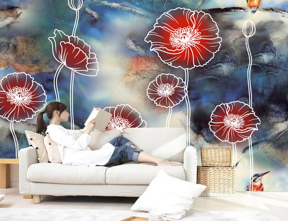 customize wallpaper for walls 3 d stereoscopic HD Abstract Yu Mei TV background wall papers home decor 3d photo wallpaper fong yu mei