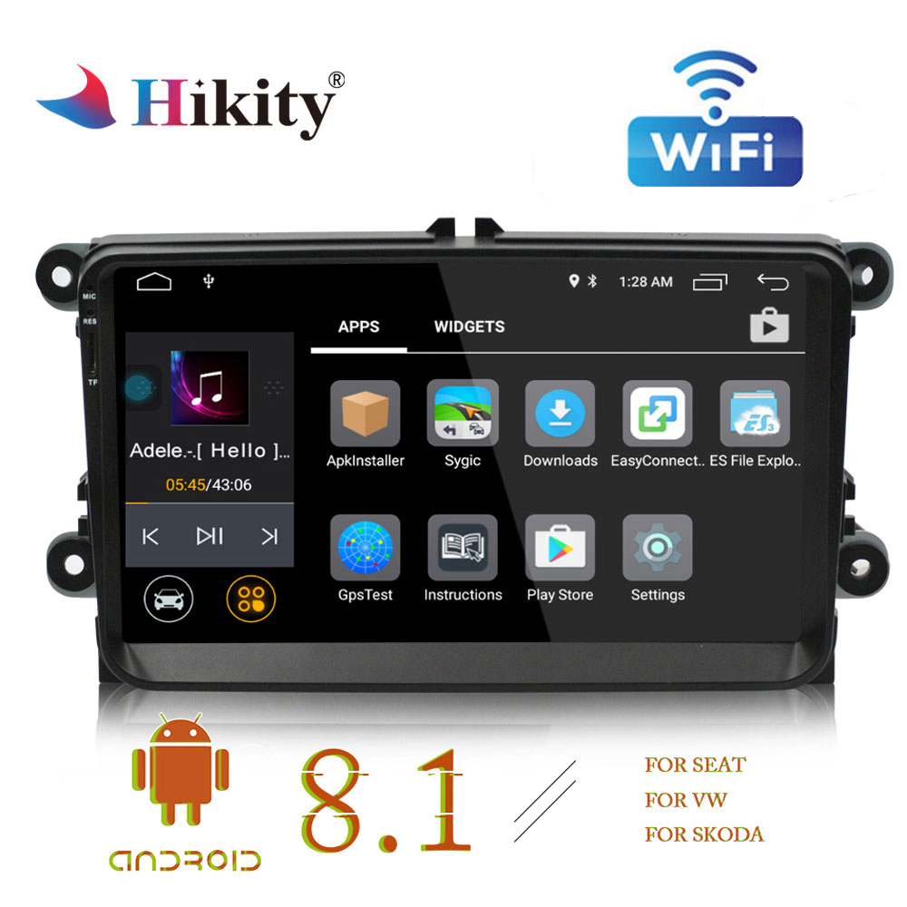 Hikity Autoradio 2 din GPS Car Radio Android 8 1 Car Multimedia MP5 Player Support Mirror
