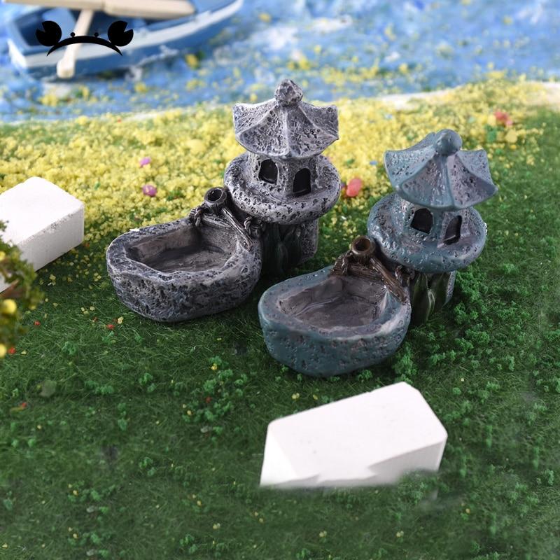Vintage Artificial Pool Tower Miniature Fairy Garden Home Decoration Craft DIY ^