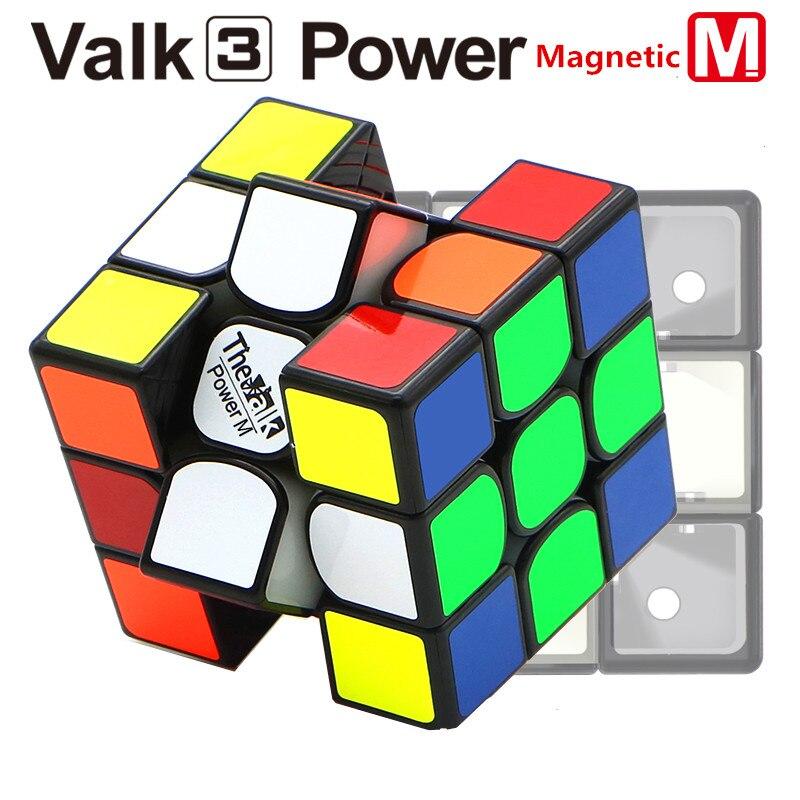 QIYI Mofangge La Valk 3 Puissance M magic Cube PVC Autocollant Magnétique Puzzle Cube Professionnel Concurrence Vitesse Cube