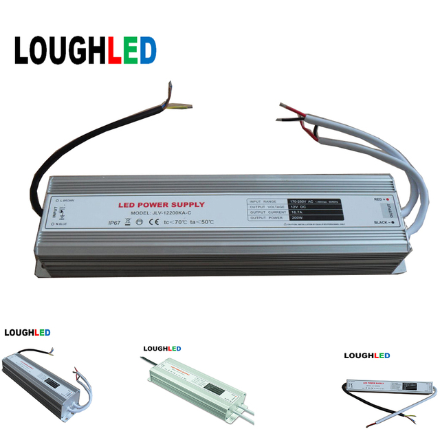 led driver dc12v 1 5a 20a 18w 250w led power supply ip67 led