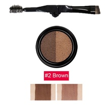 1PCS Women Beauty Waterproof lasting two-color hooded eyebrow cream eyebrow cake powder gel set kit cosmetics xgrj