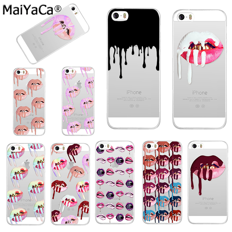 MaiYaCa phone cases Graffiti Girl Kylie Lips Soft Transparent TPU - Mobile Phone Accessories and Parts - Photo 1