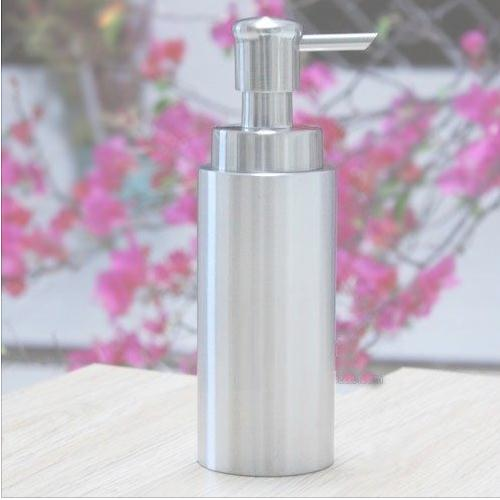 350ml Stainless steel lotion bottle empty liquid soap pump bottle refillable shampoo container Free shipping alcohol and liquid container bottle white 180ml