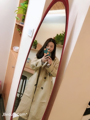 Spring And Autumn Women Fashion Brand Korea Style Waist Belt Loose Khaki Color Trench Female Casual Elegant Soft Long Coat Cloth 16