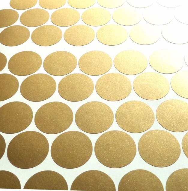 Polka Dot Wall Sticker Gold Wall Decal , Peel and Stick Metallic ...