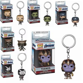 FUNKO POP New Marvel Avengers CAPTAIN AMERICA Thanos Hulk Thor Collection Keychain Action Model Toys for Children Christmas Gift