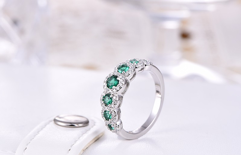 Simulated Diamond sterling silver rings jewelry (6)