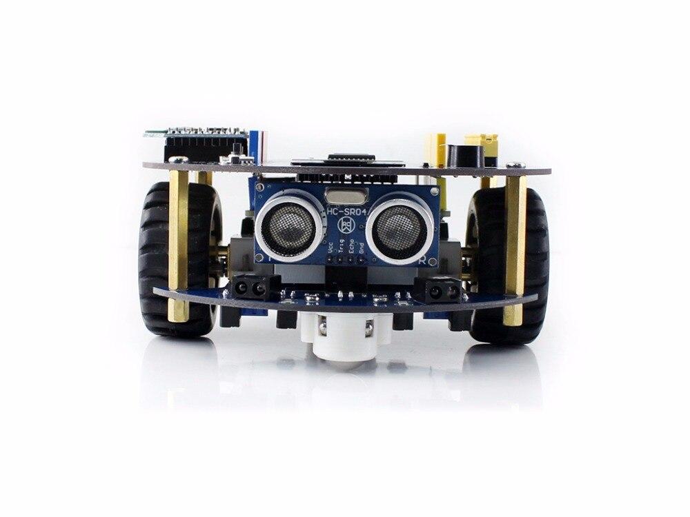 Waveshare AlphaBot2 robot building kit for Arduino Smart Car includes UNO PLUS Dual-mode Bluetooth Ultrasonic sensor IR control 1pcs ultrasonic sensor mounting bracket for hc sr04 smart car ls
