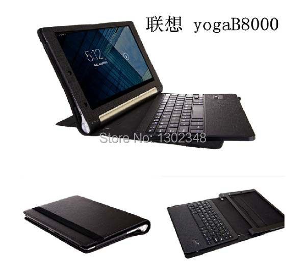ФОТО Support Russian & Other Letter Removable Wireless Bluetooth Keyboard & Leather Stand Case Cover For Lenovo Yoga 10 B8000 10.1