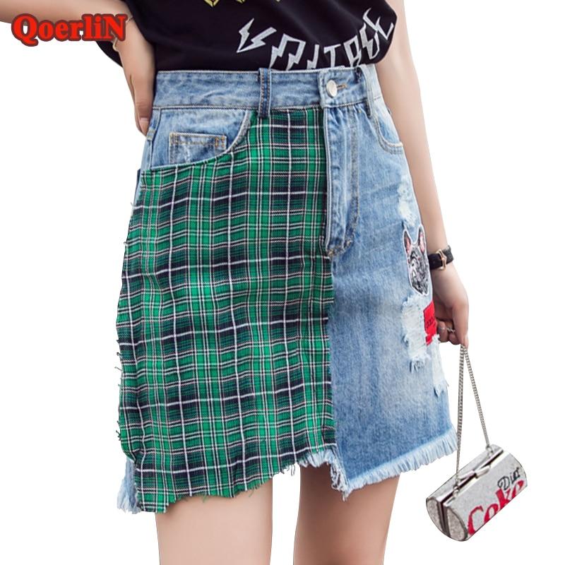 QoerliN फैशन मिड-कमर फिसल छेद - महिलाओं के कपड़े