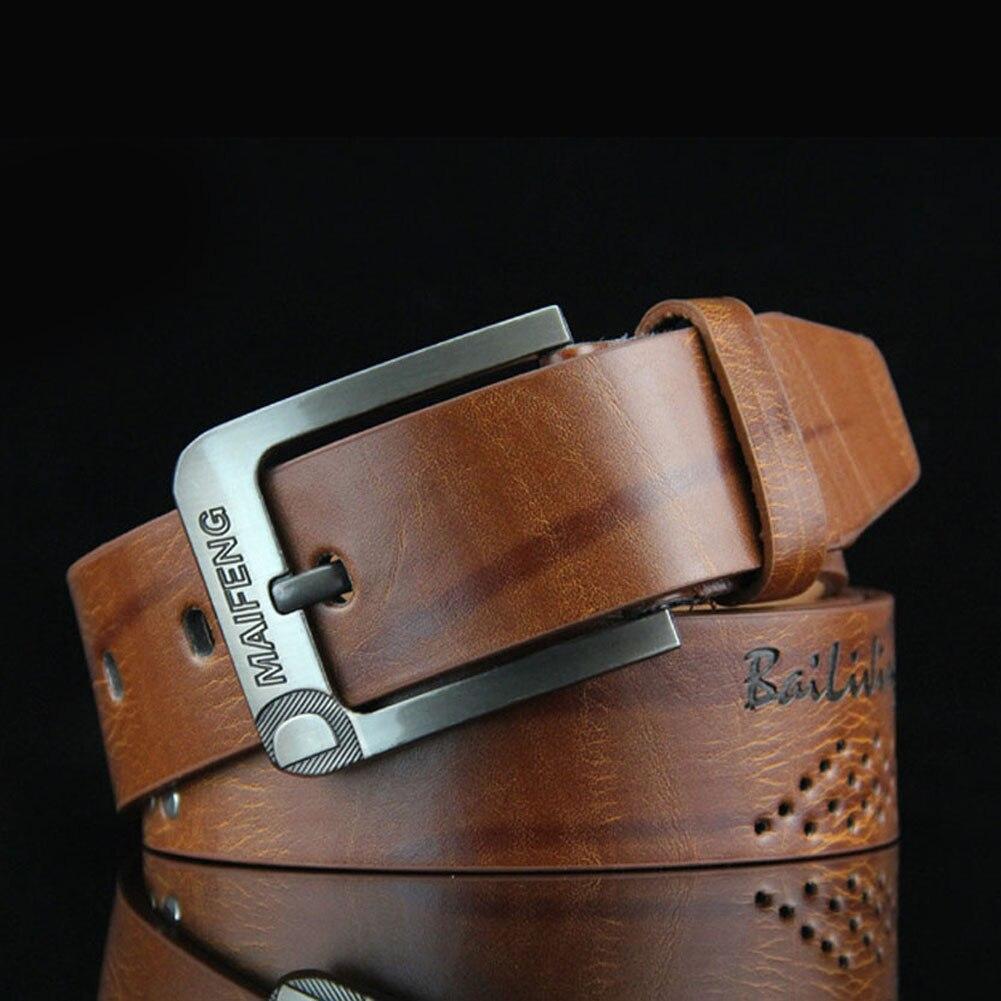 New  Men Belt Antique Pin Buckle Vintage Waist Band Retro 5 Color Cinturon Elastico Hombre